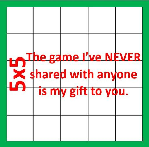 5x5 Most Amazing Just For Fun Game Sara Vanderwerf